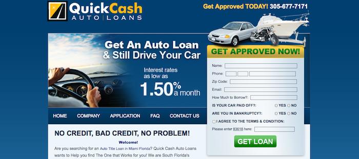 Quick Cash Auto Loans